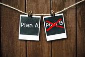 Plan A or Plan B — Stock Photo