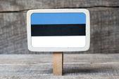 Estonian flag — Stock Photo