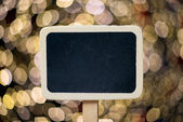 Small wooden framed blackboard — Stock Photo
