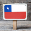 Chile's Flag — Stock Photo