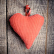 Cloth Heart — Stock Photo