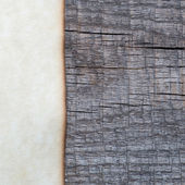 Paper sheet with wood texture — Stock Photo