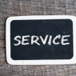 Services title written with chalk on blackboard — Stock Photo #37626899