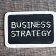 Business strategy handwritten with white chalk on a blackboard — Stock Photo #37632313