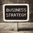 Business strategy handwritten with white chalk on a blackboard — Stock Photo #37632775
