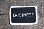 Blackboard Business — Stock Photo