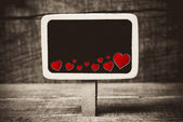 Heart on small blackboard — Stock fotografie