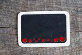 Heart on small blackboard — Foto de Stock