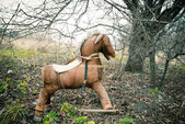 Old toy horse — Stock Photo