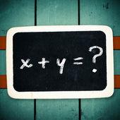 Simple mathematical formula — Stock Photo