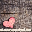 Heart on a wooden background — Stock Photo #38010195