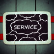 Services title written with chalk on blackboard — Stock Photo #38111775