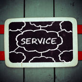 Services title written with chalk on blackboard — Stock Photo