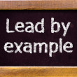 """Lead by example""  — Stock Photo #38314093"
