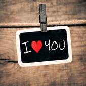 """I Love You"" — Stockfoto"
