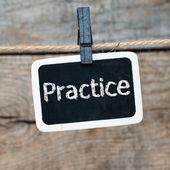 """""""practice"""" — Stock Photo"""