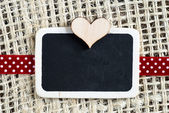 Heart on smal blackboard — Stock Photo