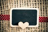 Heart on smal blackboard — Zdjęcie stockowe