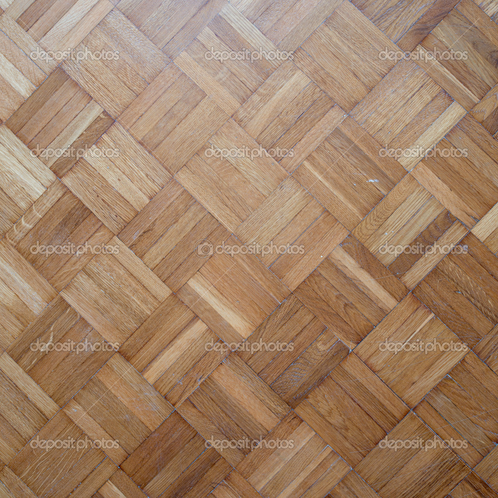 无缝的橡木板镶木地板