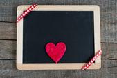 Serce na małe tablica — Zdjęcie stockowe