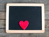 Heart on small blackboard — Stockfoto