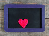 Heart on small blackboard — Fotografia Stock