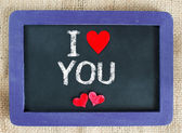 I love you with heart — Stock Photo