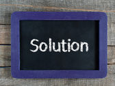 Solutions title — Stock Photo