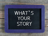 What is your story — Stock Photo