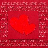 červené srdce pozadí — Stock fotografie