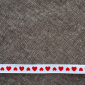 Ribbon with hearts — Stock Photo