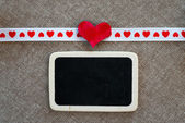 Heart on smal blackboard — Stock fotografie