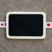 Heart on smal blackboard — Foto Stock