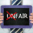 Stock Photo: Unfair-fair
