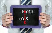 Profit, Loss, Risk concept — Stock Photo