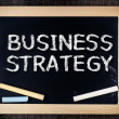 Business strategy handwritten with white chalk on a blackboard — Stock Photo #39651443