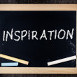 Inspiration handwritten with white chalk on blackboard — Stock Photo #39653505