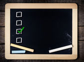 School board with chalk marks — Stock Photo