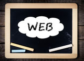 WEB handwritten with white chalk on a blackboard — Stock Photo