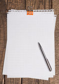 Empty or blank paper with pen — Stock Photo