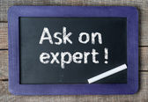 Ask an expert ! — Stock fotografie