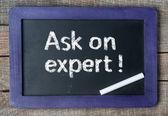 Ask an expert ! — Foto Stock