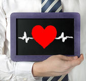Heartbeat character — Stock Photo