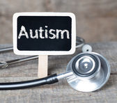 Blackboard with word Autism and stethoscope — Stock Photo