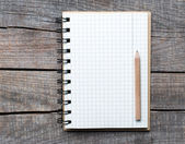 New pattern paper page and line space with pencil. — Stock Photo