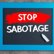 Stock Photo: Stop sabotage