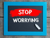 Stop Worrying — Stock Photo