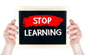 Stop Learning — Stock Photo
