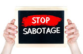 Stop sabotage — Stock Photo