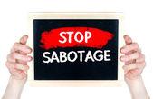 Stop sabotage — Stock Photo